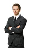 Half-length portrait of business man with crossed arms Royalty Free Stock Image