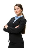 Half-length portrait of business woman with arms crossed Stock Images