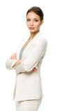 Half-length portrait of business woman with hands crossed Royalty Free Stock Photography