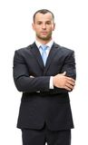 Half-length portrait of businessman with arms crossed Stock Photography