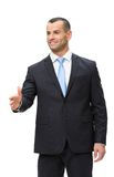 Half-length portrait of businessman handshaking Stock Photography