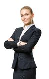 Half-length portrait of businesswoman with hands crossed Royalty Free Stock Photography
