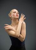 Half-length portrait of dancing ballet dancer Royalty Free Stock Photography