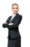 Half-length portrait of female businessman with hands crossed Royalty Free Stock Photos