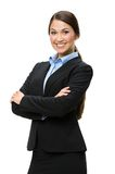 Half-length portrait of female executive with arms crossed Stock Photo