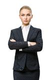 Half-length portrait of female executive with hands crossed Royalty Free Stock Photo