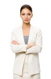 Half-length portrait of female manager with crossed hands Stock Image