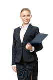 Half-length portrait of female manager with documents Stock Photography
