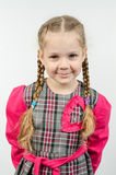 Half-length portrait four-year girl Europeans Royalty Free Stock Image