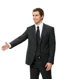 Half-length portrait of handshaking business man Royalty Free Stock Photos