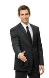 Half-length portrait of handshaking businessman Stock Photos