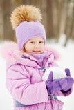 Half-length portrait of little girl Stock Photos