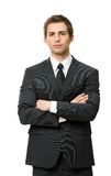 Half-length portrait of manager with crossed hands Royalty Free Stock Image