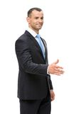 Half-length portrait of manager handshaking Stock Photo