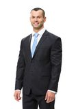 Half-length portrait of smiley business man Royalty Free Stock Image