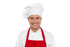 Half length portrait of smiling male chef Stock Photo