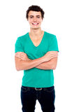 Half length portrait of stylish casual young guy Royalty Free Stock Photography
