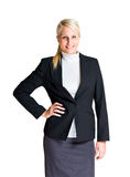 Half length portrait of young businesswoman. Royalty Free Stock Image