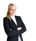 Half length portrait of young businesswoman. Royalty Free Stock Photography