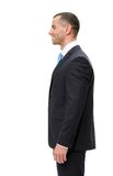 Half-length profile of manager. Half-length profile of business man, isolated. Concept of leadership and success stock photography
