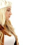 Half length view of young blonde female Royalty Free Stock Images