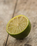 Half of lime citrus fruit Royalty Free Stock Image