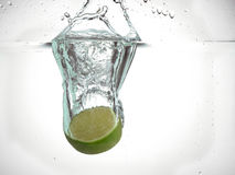 Half lime Royalty Free Stock Image