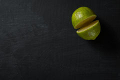 Half Lime Food Background Royalty Free Stock Photos