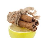 Lemon and cinnamon Royalty Free Stock Image