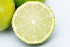 Half a lime Stock Photography