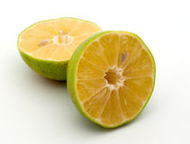 Half limefrukt Arkivbild