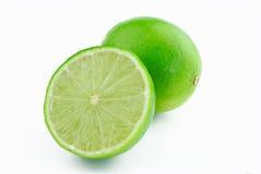 half limefrukt en royaltyfri bild
