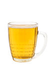 The half litre of beer glass. On white Stock Photo
