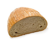 Half loaf of bread. Isolated Royalty Free Stock Photos
