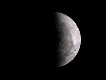 Half lunar moon on black Stock Photography