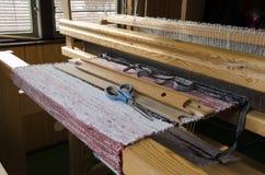 Half made carpet Stock Image