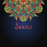 Half of mandala template for menu, greeting card. Invitation or cover Stock Photography
