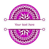 Half mandalas with place for your text Stock Images