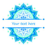 Half mandalas with place for your text Royalty Free Stock Images