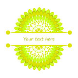 Half mandalas with place for your text Stock Photos