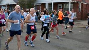During a Half Marathon. Runners during half marathon at Tybee Island Georgia, Feb 4, 2012 stock image