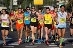 Half Marathon. VALENCIA, SPAIN - OCTOBER 21: Runners compete in the XXI Valencia Half Marathon on October 21, 2012 in Valencia, Spain royalty free stock photography