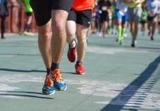 Half marathon in Kyiv, Ukraine. Stock Photos