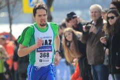 Half marathon in Prague 2015 - Dalibor Bartos. Dalibor Bartos in Sportisimo Prague Half Marathon 2015 held on 28.3.2015 in Prague, Czech Republic royalty free stock images