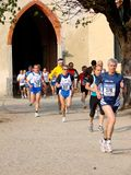 "Half-Marathon race in Vigevano, Italy. 2008 ""Scarpa d'Oro"" Half-Marathon race (21 km) in Vigevano, Italy. The race was followed by the ""Family Run"" (4 Royalty Free Stock Photo"
