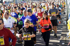 2015 half marathon in Rome Royalty Free Stock Photo