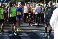2015 half marathon in Rome. Competitors at the half marathon in Rome on the 1st of March 2015, Italy Stock Photography