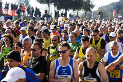2015 half marathon in Rome Royalty Free Stock Photography
