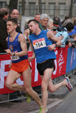 Half marathon runners. Runners at the City Pier City Loop 2008 (half marathon). In the Hague royalty free stock images