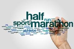 Half marathon word cloud. Concept stock photography